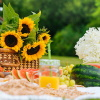 Summer yoga picnic for heat